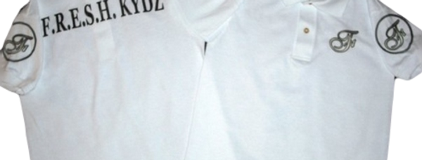 White/Black Kydz Polo