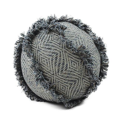 Decorative Pillow. Handmade Fringe-Ball