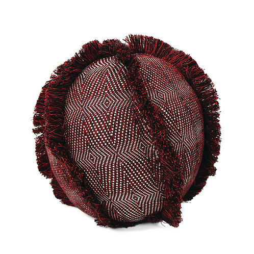 Decorative Pillow. Handmade Fringe-Ball