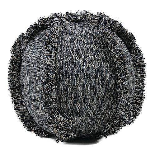 Decorative Pillow. Handmade Fringe-Ball.