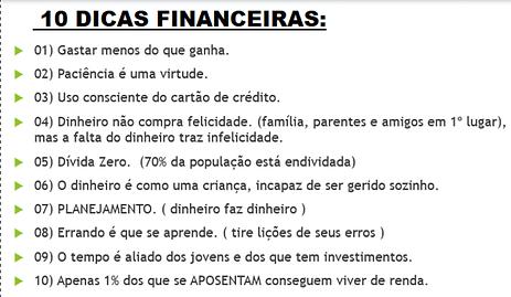 10 dicas financeiras para controlar dinh