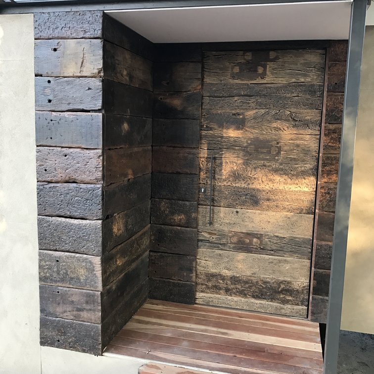 Custom railway door and cupboard