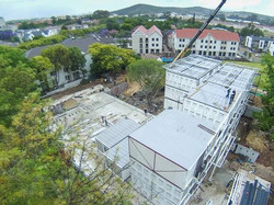 Craning modular roof sections
