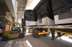 Delivery of bathroom pods