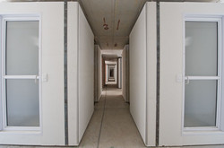 Pods aligned on floor