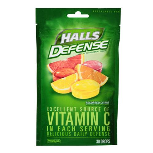 Halls Defense Vitamin-C Drops