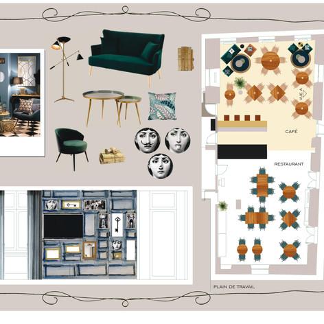 Planche conceptulle Hôtel