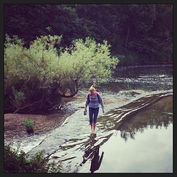 Walking on the weir