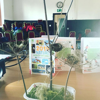 Making the mini gardens at an event