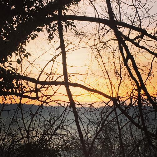 Sunset over the fields near my house