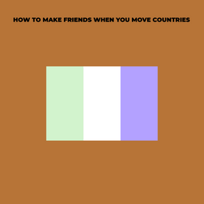 How To Make Friends When you Move Countries