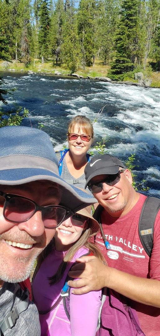 Friends at Bechler Falls