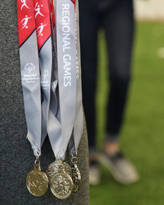 Each Special Olympic athlete received a medal for their participation in the event. Photo by Nicole-Marie Konopelko.