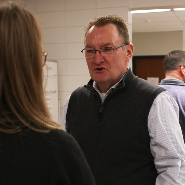 Talking to PHS's assistant superintendent, Dr. Brad Hanson.