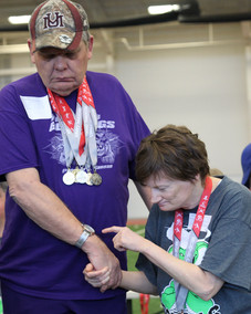 Special Olympic athletes wait to receive their awards. Photo by Nicole-Marie Konopelko.