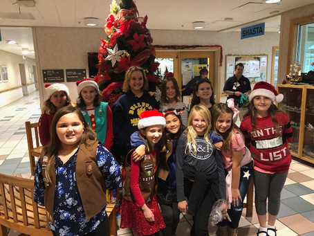 Creekside Girls Bring Holiday Cheer to Veterans