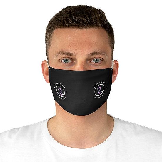 Black L2W Print  Fabric Face Mask