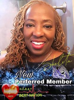 Congratulations Sheleta on becoming a Preferred Member
