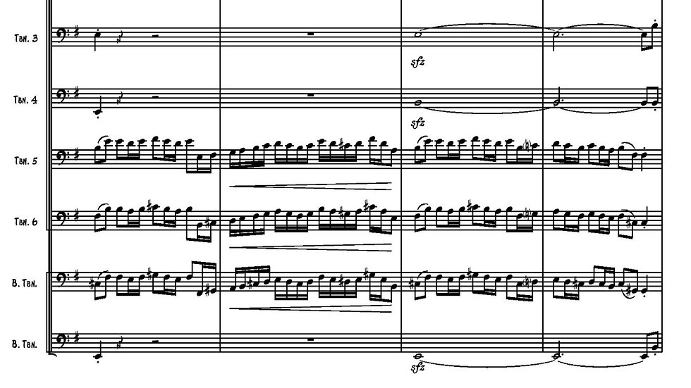 Fanfare, Andante and Dance - Trombone Octet