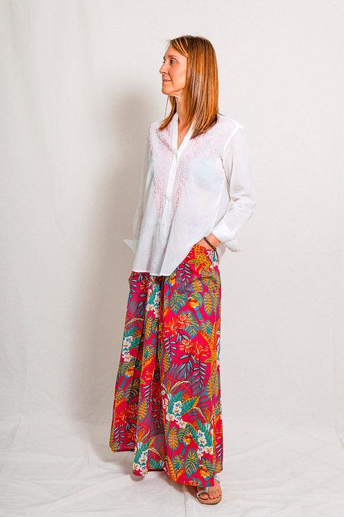 long skirt jungle pink