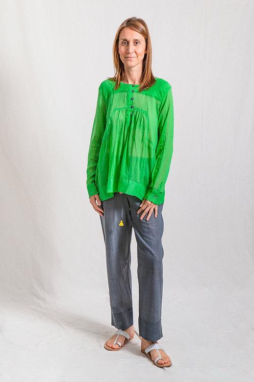 nirmala shirt green