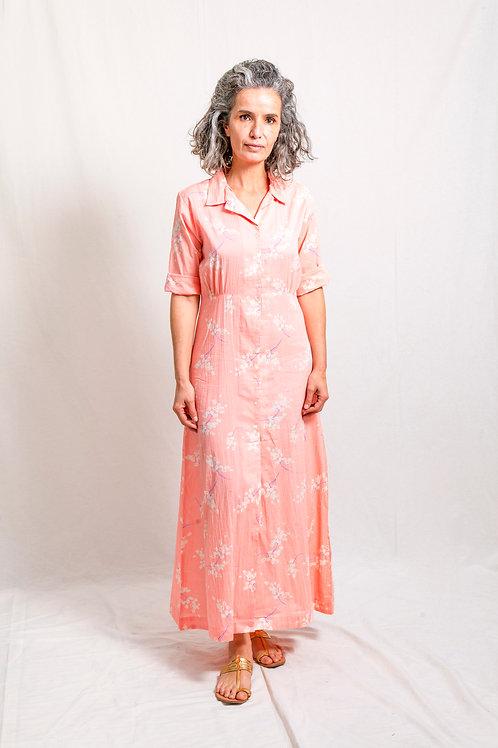 khan dress ginestra pink