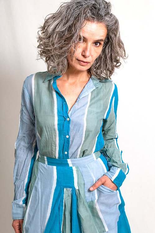 zu shirt stripes blue