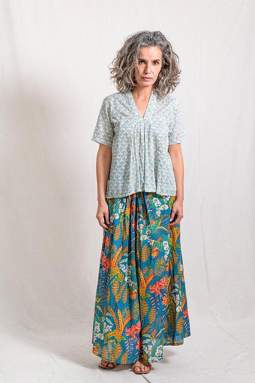 long skirt jungle blue