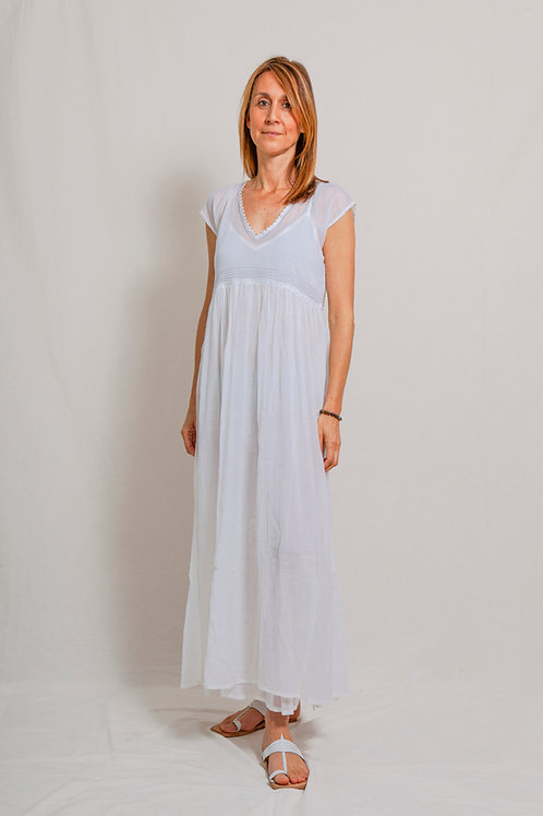 sali dress white