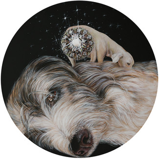 DOGS WITH DIAMONDS BEHIND