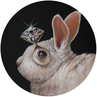 RABBIT WIHT DIAMOND BUBBLE EYE