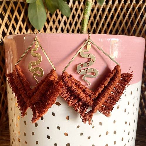 Golden Serpent Earrings