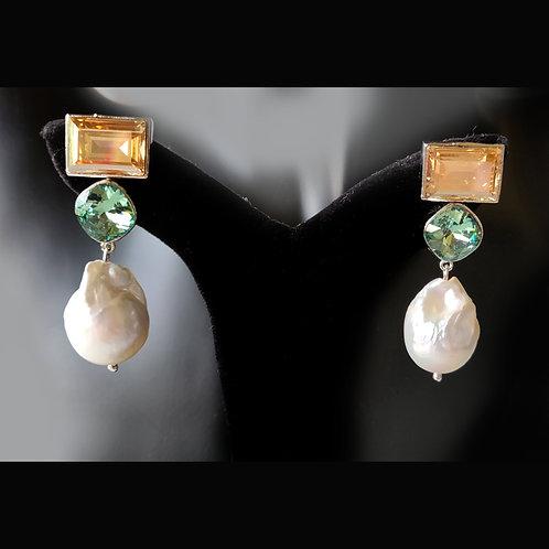 Unique Fashion Delight in Swarovski and Baroque Pearl