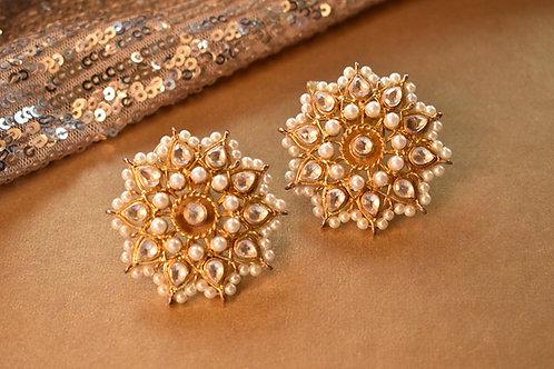 Floral Kundan Earrings