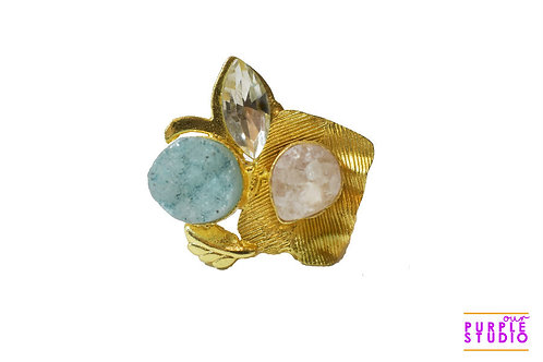 Flamboyant  Rough Stone Ring
