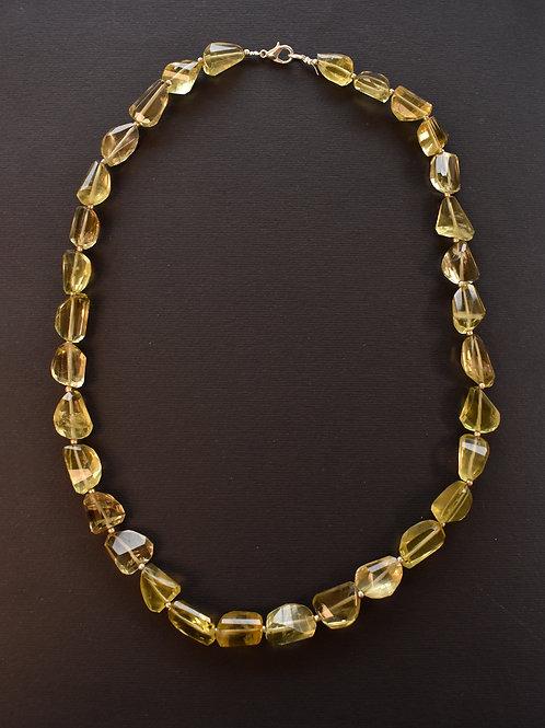 Lemon Quartz Indo Western Necklace