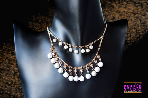 Gorgeous Indo Western Pearl Necklace