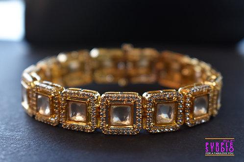 Sophisticated Square Kundan Bracelet
