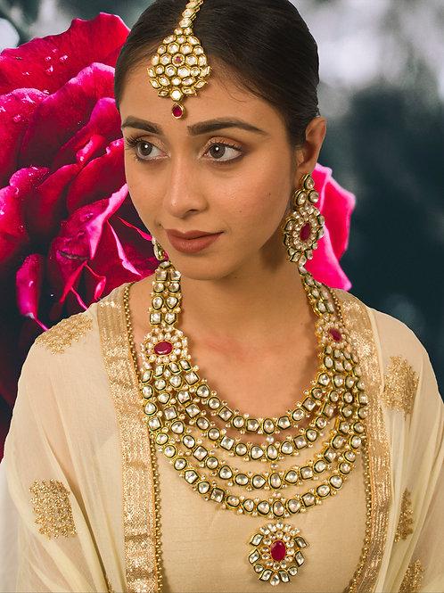 Multi Layered  Kundan Bridal Set