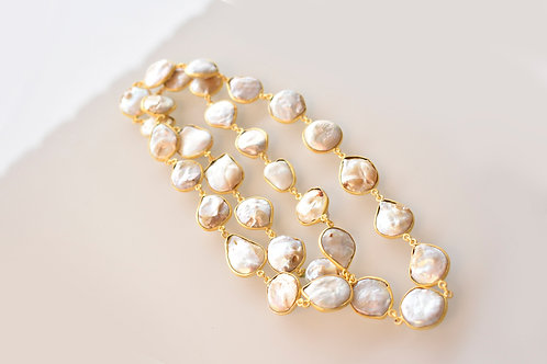 Gorgeous Indo Western Mother of Pearl Necklace