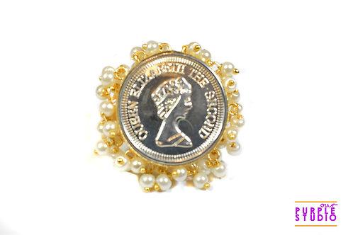 Silver Queen Elizabeth Ring