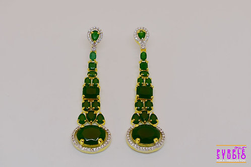 Gorgeous Green Chandelier Earrings