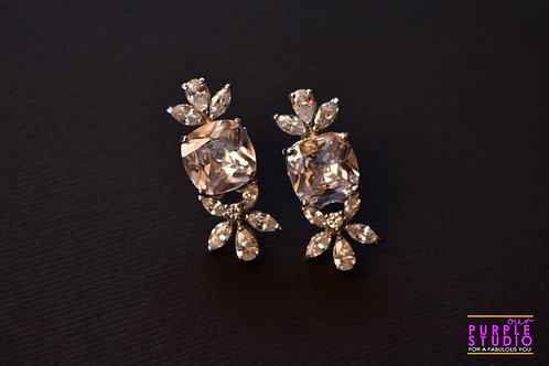 Beautiful CZ Earring in White Stone