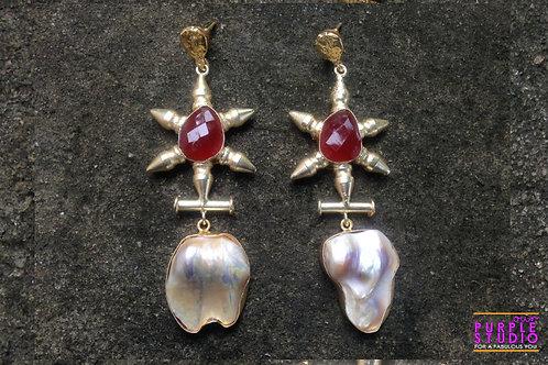 Elegant Rough Stone Earring