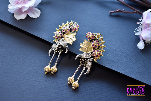 Statement Earrings beautifully fusioned with kemp stones