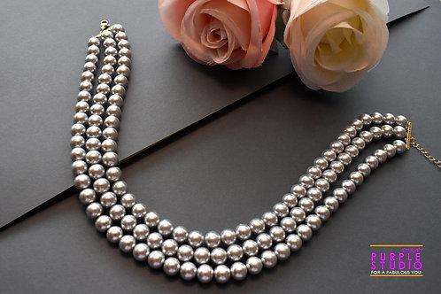 Gorgeous Indo Western Grey Pearl Choker