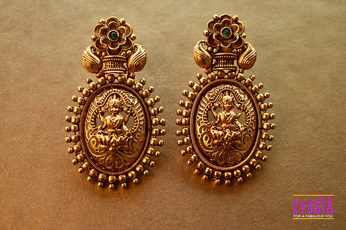 Golden Temple Lakshmi Ji Earring