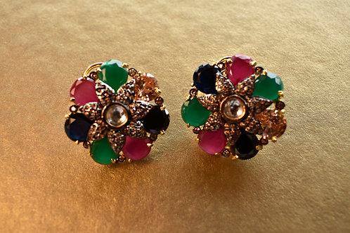 Gorgeous Victorian Look Multi Color Stud