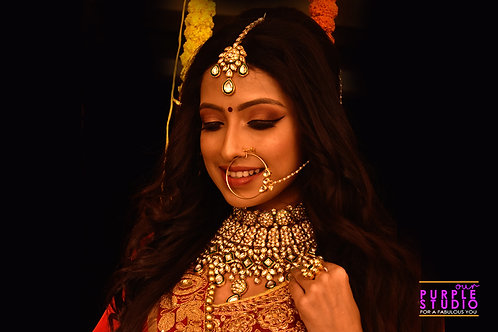 Mesmerizing  Kundan Bridal Set in Green