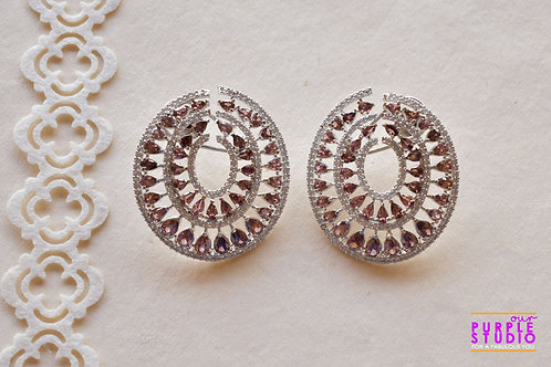 Fashionable Oval Cocktail Earring